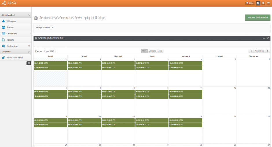 GestionCalendrier